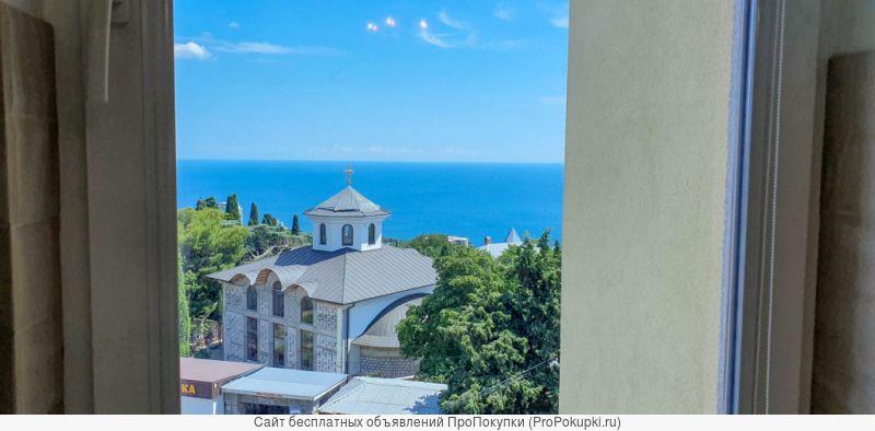 Квартира в центре пгт. Кореиз с видом на море