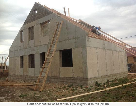 Строительство из арболитовых деревобетонных стеновых панелей