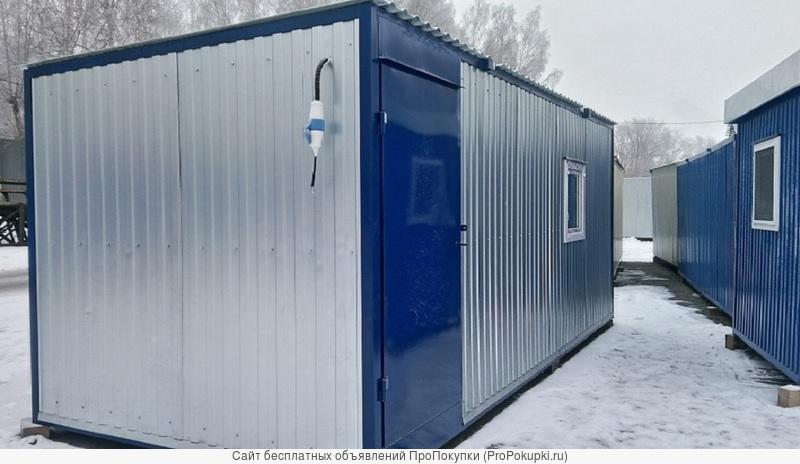 Блок-контейнер 6,0 м х 2,45 м х 2,5 м на раме за 93 тысячи рублей