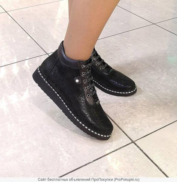 Женские ботинки из натуральной кожи. Размер 42-44