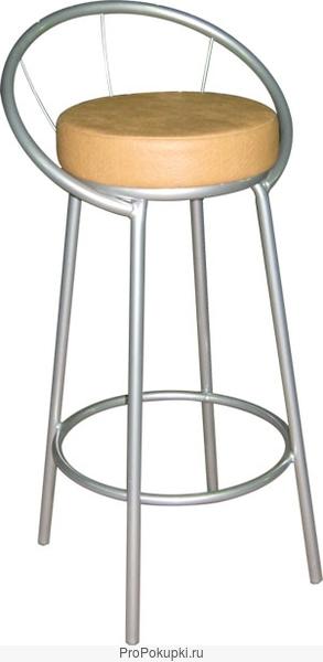 Барные стулья на металлокаркасе.