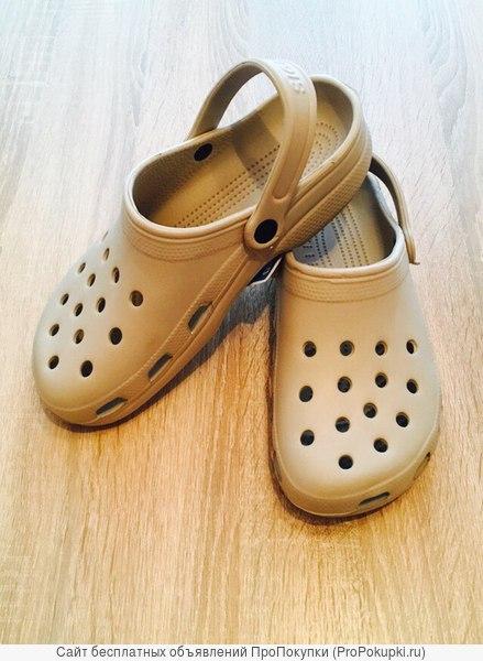 Удобные мужские кроксы тапочки босоножки crocs