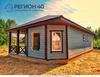 Одноэтажный дом с эркером недалеко от Новой Москвы