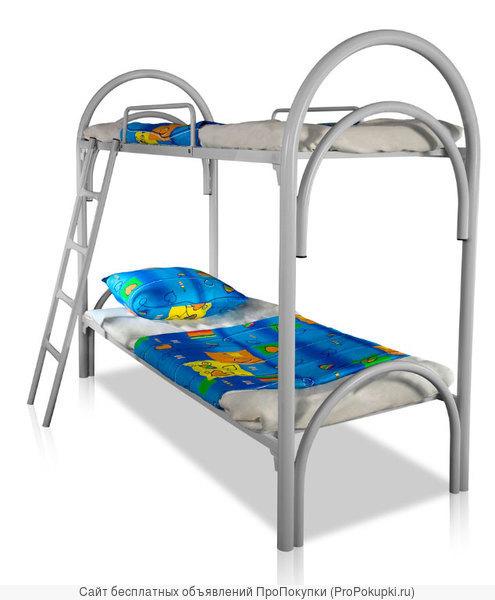 Металлические кровати с ДСП спинками для лагерей