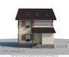 Трёхэтажный дом из кирпича 8 на 9 м