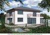 Двухэтажный кирпичный дом в средиземноморском стиле