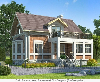 Трёхэтажный дом из кирпича 6 на 9 м