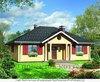 Уютный кирпичный домик до 100 кв. м с красивыми колоннами