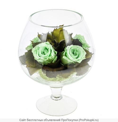 Оптовые поставки живых цветов в вакууме в стекле в герметичных вазах