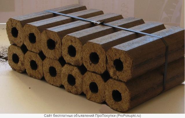 Минизавод брикетирования камыша, соломы, тростника