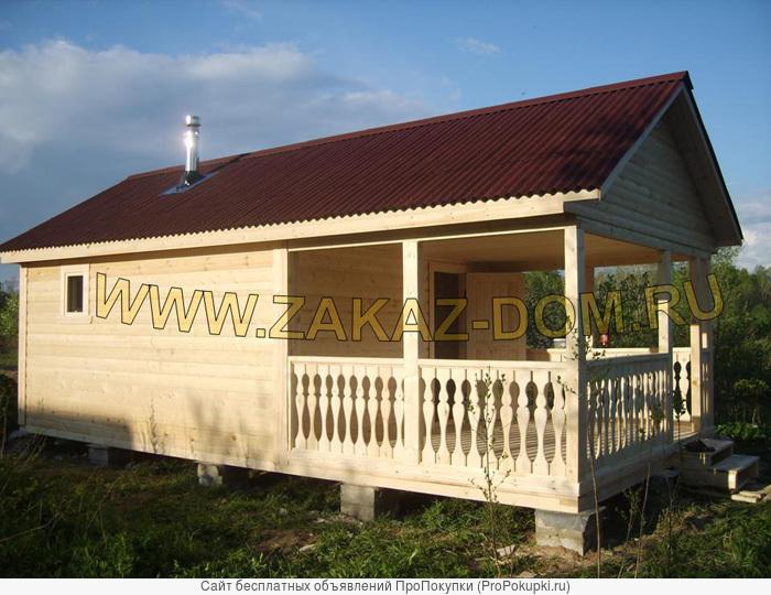 Строительство дачных домов и бань из бруса