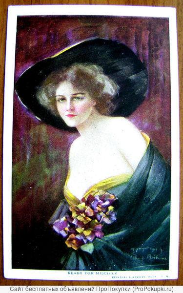 Редкая открытка «Готова к проказам»1904 год