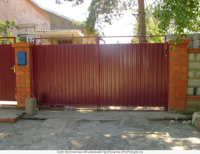 Ворота двери металлические
