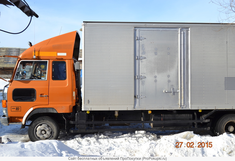 Грузоперевозки Hino г.п.5т.объём25куб Изотермо.