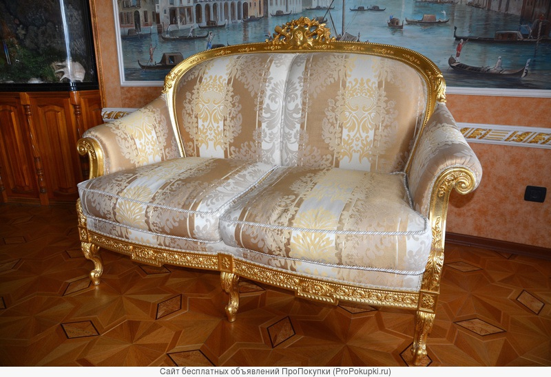 Королевский диван сусальное золото, фабрикаTurri Otello