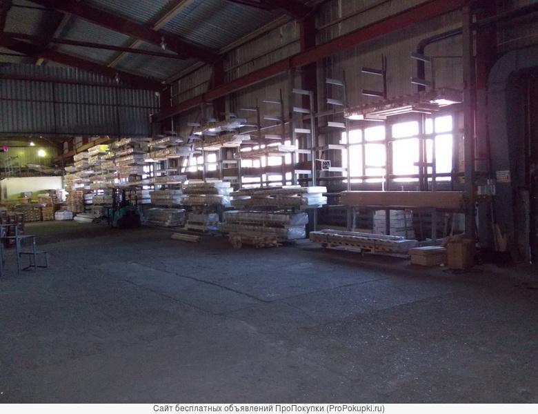 Шикарный теплый цех 1100-550м² с 5-тн кр.–балкой, высота 9м