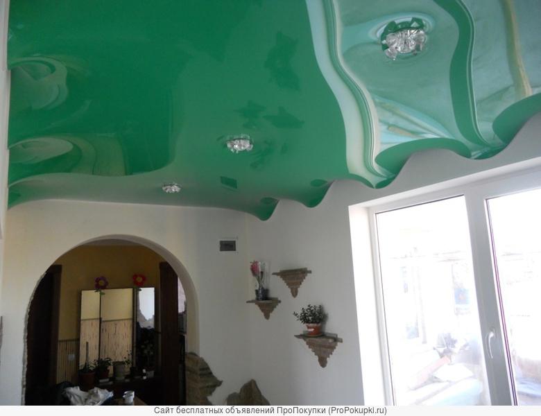 Лаковые матовые натяжные потолки pongs