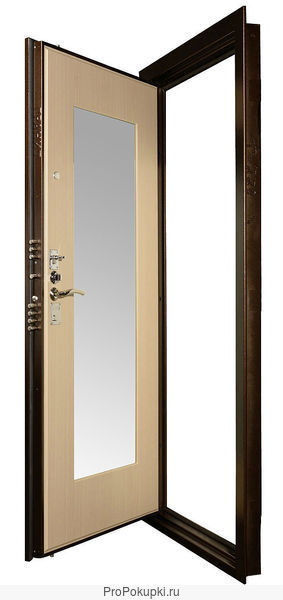 Стальная дверь с зеркалом Гранит М3