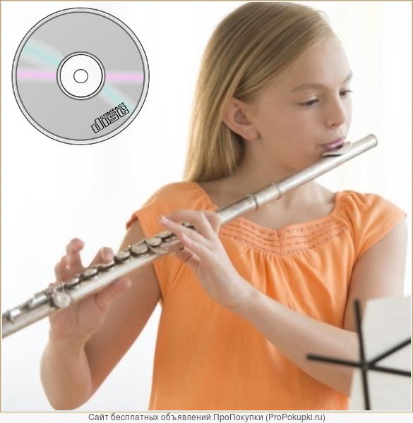 Для игры на флейте - сборник нот с фонограммами популярных мелодий