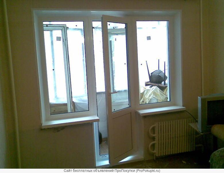 Замер, монтаж окон и дверей, тёплые откосы