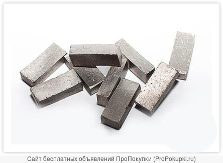 Алмазные радиусные сегменты и кольцевые для алмазных коронок