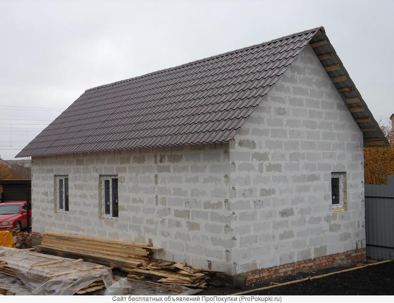Строим дачные дома, гаражи, бани из блоков