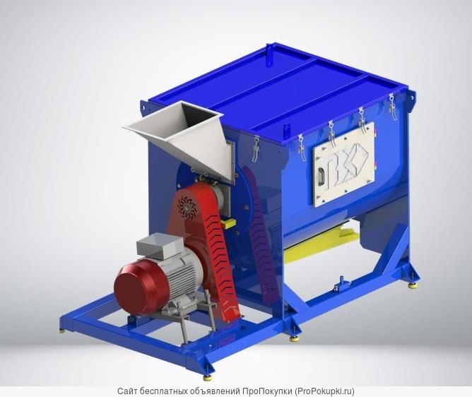 Горизонтальная центрифуга для линии сушки пластика