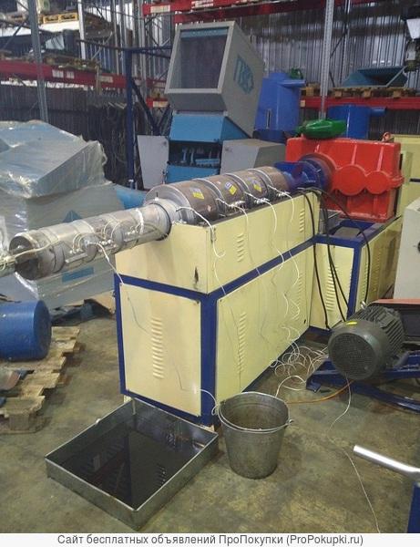 Двухкаскадный гранулятор для твёрдого пластика