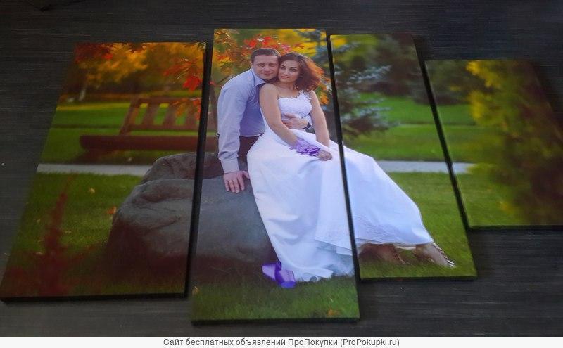 Фотопечатные модульные картины из ваших собственных фотографий