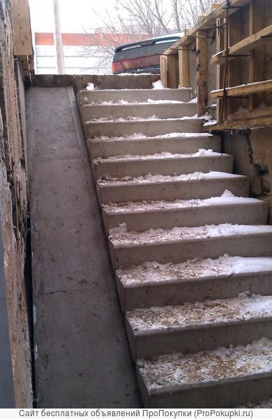 Устройство подвальных лестниц из ж/бетона