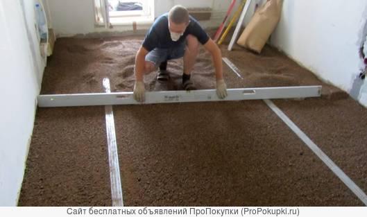 сухая засыпка для пола керамзитовый песок 0-5