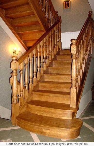 Лестницы деревянные, изготовление и монтаж
