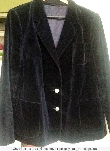 Новый Женский бархатный пиджак,чернильного цвета