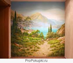Картины на стене, фрески, лепнина, ручная роспись