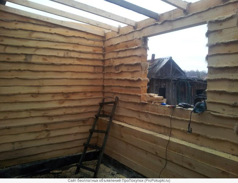 бригада плотников выполнит работы по дереву