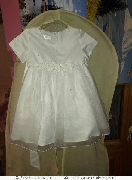 платье для девочки белое 1,5-2,5
