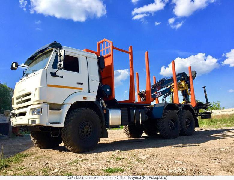 Автомобиль сортиментовоз c КМУ на базе КАМАЗ-43118 (6х6)