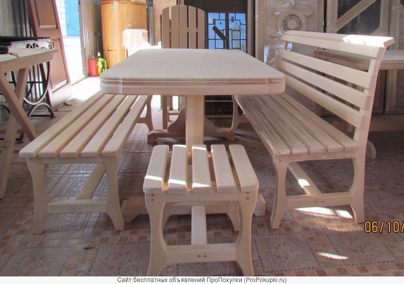 Мебель для бани и сауны из кавказской липы