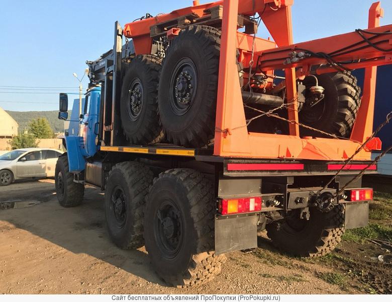 Лесовозный автопоезд Урал 55571 2020 г.в. с манипулятором и прицепом