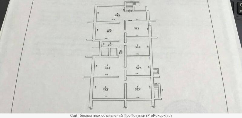 Продам помещение свободного назначение 368.5 кв.м