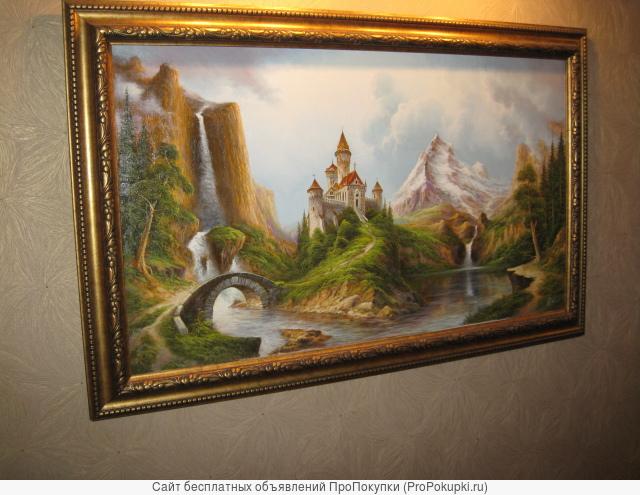 Картина А.Стрелкова и бра подсветки подарок, 138х88см
