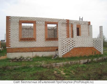 10 соток с недостроенным домом в часе езды от МКАД