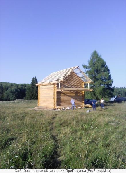 изготовление срубов и строительство домов, бань