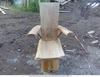 продаю кресло(сосна),высокое и широкое