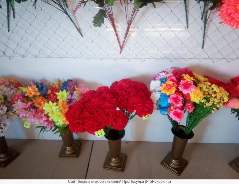 Оптовые продажи искусственных цветов, венков,корзинок