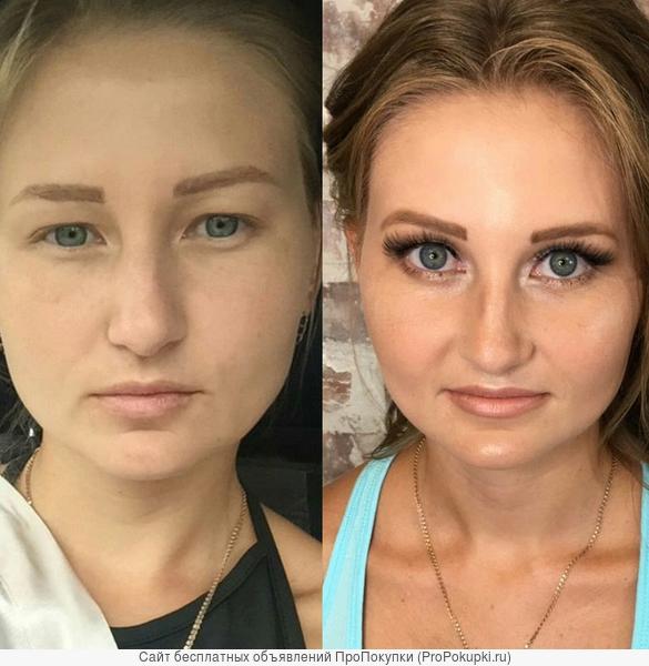 макияж и прическа, образ в 4 руки