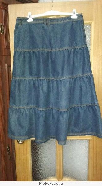 юбка джинсовая голубая новая