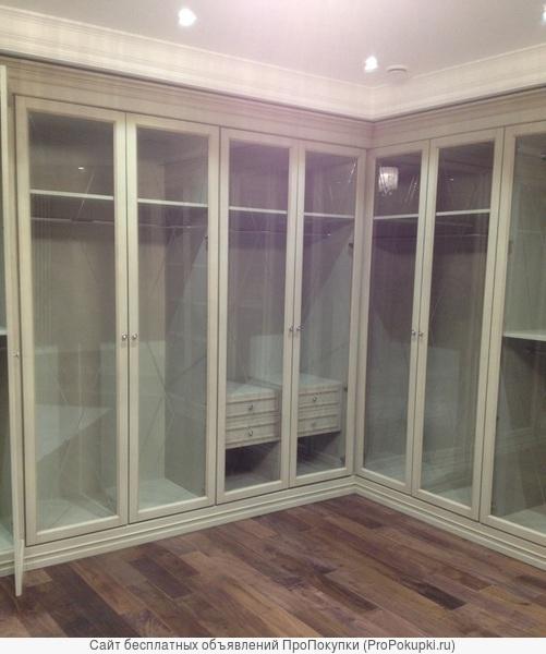 Гардеробные комнаты классические шкафы встроенные