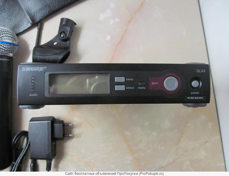 аренда в Томске: Радиомикрофон Shure SLX24 (ручной микрофон Beta58)