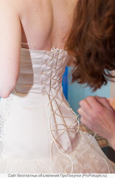 Элегантное, нежное свадебное платье